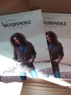 Just received my @Knit_Picks Woodsmoke Cable Collection books which contain my Absent Friends Shawl! So much cable-y goodness! Link goes to Raverly page.