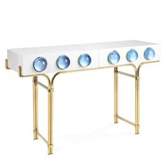 Jonathan Adler creates the most glamorous furniture with a futuristic undertones. | www.modernconsoletables.net | #modernconsoletables #consoletables #consoletableideas
