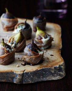 figs with blue cheese...