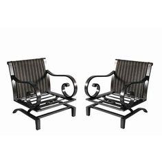 Garden Treasures Set Of 2 Eastmoreland Slat Seat Steel