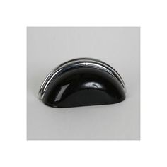 This black glass cabinet/drawer cup pull with traditional design is part of the Glass Bin Pull Series from Lew's Hardware. A hand poured glass bin pull with a polished chrome finish die cast zinc base. Perfect for use on cabinet doors and drawers capable of accepting a mounted pull, the design transforms the classic all metal fabrication into a unique transitional design with equal use within traditional and modern settings.