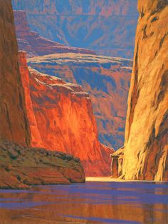 Deep in the Canyon oil 40 x 30 inches by Cody DeLong