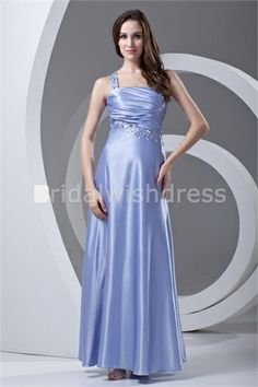 Ankle-Length Elastic Woven Satin One Shoulder Special Occasion Dresses