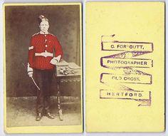 CDV Photograph Victorian Soldier Coloured Carte de Visite Foursoutt of Hertford