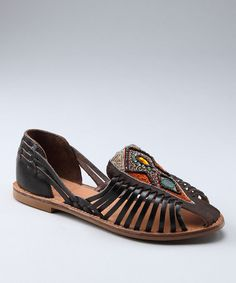 Take a look at this Dark Brown Nandi Sandal by CL by Laundry on #zulily today!