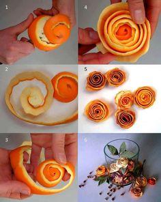 DIY Flowers from Orange Peels! From: Live Love fruit