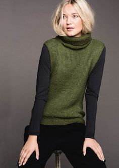 Knit Vest Pattern, Sweater Knitting Patterns, Knitting Designs, Handmade Clothes, Knit Crochet, Knitwear, Pullover, Sweaters, Women