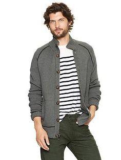Button zip cardigan | Gap