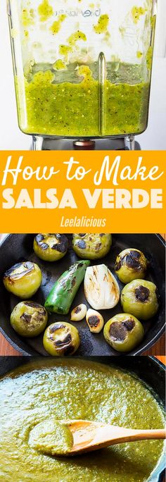 This amazing roasted Salsa Verde recipe is my favorite Mexican condiment. Made with just a handful of fresh ingredients like tomatillos, chiles and cilantro this salsa is perfect for dipping tortilla chips, huevos rancheros verde or salsa verde chicken! Authentic Mexican Recipes, Mexican Salsa Recipes, Mexican Dishes, Green Salsa Recipes, Green Tomato Recipes, Authentic Mexican Chicken Tacos Recipe, Spicy Mexican Food, Mexican Tortilla Recipe, Mexican Recipes With Chicken