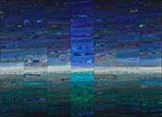Light on the ocean--40x56 inches. Cotton, cotton batting. Copyright Ann Brauer