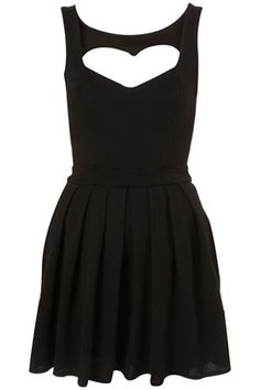 little black dress w/ a heart cut out in the back to make it even more perfect :)