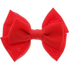 Mini Red Double Bow Hair Clip ($3.86) ❤ liked on Polyvore featuring accessories, hair accessories, red bow hair clip, red bow hair accessories, red hair accessories, red hair clips and hair clip accessories