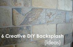 6 DIY backsplash ideas- love these!