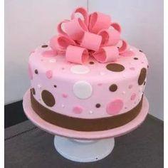 Pink cake.