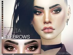 The Sims Resource: Emilia Eyebrows N102 by Pralinesims • Sims 4 Downloads