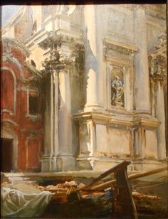 John Singer Sargent - Church of San Stae, Venice fine art preproduction . Explore our collection of John Singer Sargent fine art prints, giclees, posters and hand crafted canvas products Claude Monet, John Singer Sargent Watercolors, Sargent Art, Beaux Arts Paris, Venice Painting, Art Watercolor, Oil Painting Reproductions, Paintings I Love, Beautiful Paintings