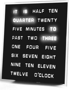 Amazon Oddities 1/8/17 -- Word Clock http://www.mashupmom.com/amazon-oddities-1817-word-clock/