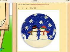 Snow couple platter