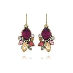 Bouquet Rouge Drop Earrings | Chloe + Isabel ($38) via Polyvore featuring jewelry, earrings, chloe isabel jewelry, flower jewelry, drop earrings, flower jewellery and abstract jewelry