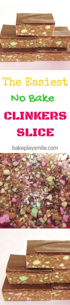 This is my most requested slice! Clinkers Slice is so easy to make and you don't even need to turn the oven on.