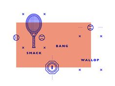 Behance :: GAME SET MATCH // Infographic graphics by STUDIOJQ