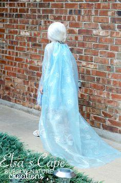 Elsa's Cape! Make a Custom Elsa Cape to spruce up a cheapie costume!