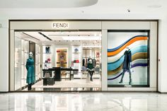 The Fendi Fall/Winter 2016 collection's gravitational waves are featured in the latest window installations. Check out your nearest Fendi boutique to see them in person.