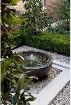 small garden Water Garden Fountains Th - garden Small Courtyard Gardens, Small Courtyards, Small Gardens, Outdoor Gardens, Courtyard Ideas, Small Garden Ponds, Koi Ponds, Zen Gardens, Outdoor Water Features
