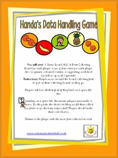 Handa's Data Handling Game Math Literacy, Classroom Activities, African Animals, African Art, Handas Surprise, Free Board Games, Roald Dahl Day, Dear Zoo, Rainbow Fish