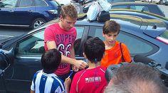 Illarramendi acude al entrenamiento de la Real Sociedad en Zubieta