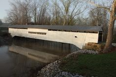1864 Huffman's Mill Covered Bridge near the town of Santa Claus, Indiana
