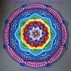 Pt 11 Mandala Madness by Crystals and Crochet aka Helen Shrimpton Free PDF download here http://www.crystalsandcrochet.com/wp-content/uploads/2016/05/mandala-madness-part-11-photo-tutorial.pdf