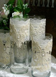 Victorian wedding centerpiece French Country by Bannerbanquet, $22.00