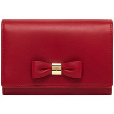 Bow French Purse Poppy Red Silky Nappa (24.715 RUB) ❤ liked on Polyvore featuring bags, handbags, clutches, purses, bolsas, accessories, bow purse, red clutches, red handbags and pocket purse