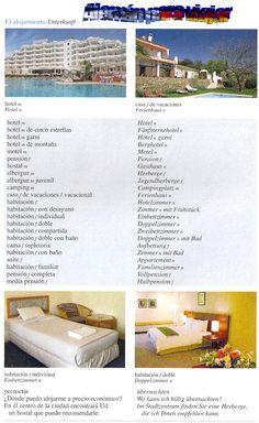Alemán para viajar /En el hotel / Im Hotel / Para interactuar con los miembros únete al grupo: >> Vocabulario alemán << https://www.facebook.com/groups/Vocabulario.aleman/