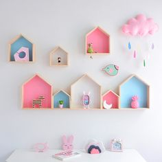 Kids Room Decoration Wooden Shelf For Kids Room Nursery Decoration Wall Wood Shelf For Children Boy Girl Room Wall Decor Shelf-in Decorative Shelves from Home & Garden on AliExpress