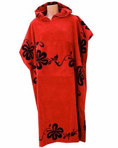 034dd677296ad  48.00 - Changing Towel Poncho Robe Swim Surf Wetsuits Large XLarge Red