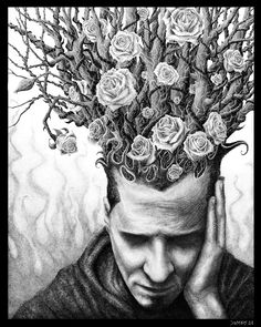 turecepcja: Ink drawings by Brian Demers viageneric-art Conceptual Art, Surreal Art, Surreal Portraits, Portfolio D'art, Studios D'art, Ap Art Concentration, Classe D'art, Ap Drawing, High School Art Projects