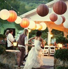 Hochzeitsdeko - 5x Lampion 10cm in vielen Farben - ein Designerstück von MaterialshopEuro bei DaWanda