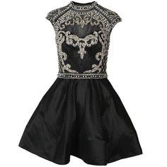 Forever Unique Women's Jemima Embellished Open Back Black Dress found on Polyvore