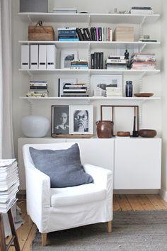 Ikea 'Besta' cabinet & 'Algot' shelves
