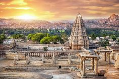 Hampi, a UNESCO World Heritage Site, is a fantastical landscape of otherworldly rocks, nestled within the ruins of the city of Vijayanagara. Winter Holiday Destinations, Places To Travel, Places To Visit, Tourist Places, Travel Destinations, Visit India, Susa, Ancient Ruins, Ancient History