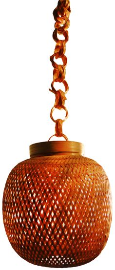 Bamboo Hanging Round Lamp from Lal10.com