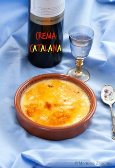Crema Catalana - the #Catalan version of the French crème brûlée with hints of lemon and cinnamon and a crusty burnt sugar top.