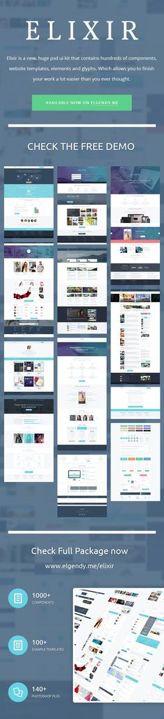 ELIXIR – 10 FREE PSD TEMPLATES - Hope it can help with your design. Feel free to download it all without any requirement on http://getfreeresources.com