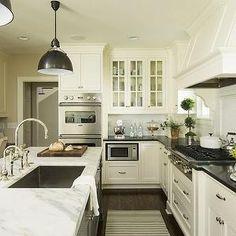 Benjamin Moore White Dove Cabinets, Transitional, kitchen, Benjamin Moore White Dove, Martha O'Hara Interiors