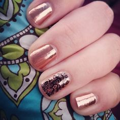 rose gold and lace noir Jamberry for the holidays. Shop at:  http://www..Maggie2.jamberrynails.net