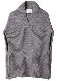 Phillip Lim Shawl Sweater Vest, like the details. Poncho Crochet, Loom Knitting, Knitting Machine, Crochet Clothes, Pulls, Knitwear, Knitting Patterns, My Style, Sweaters