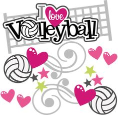 I Love Volleyball - SVG Scrapbooking Files