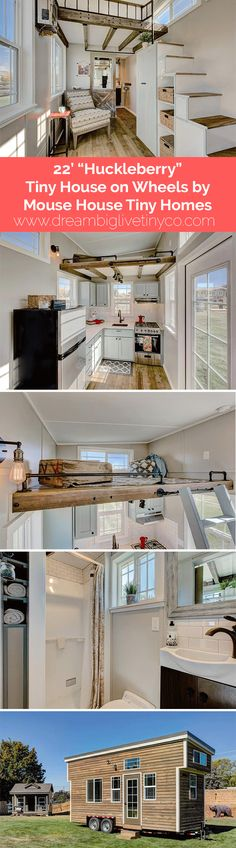 """22' """"Huckleberry"""" Tiny House on Wheels by Mouse House Tiny Homes"""